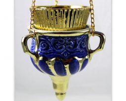Kandilo_zidno_keramika_plava_ukrajina